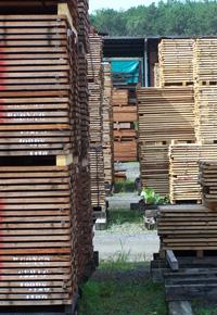 air drying lumber in yard