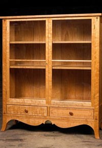 cherry wood cabinet