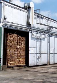 kiln full of lumber to dry