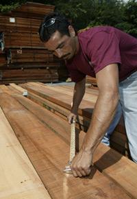 Picking lumber